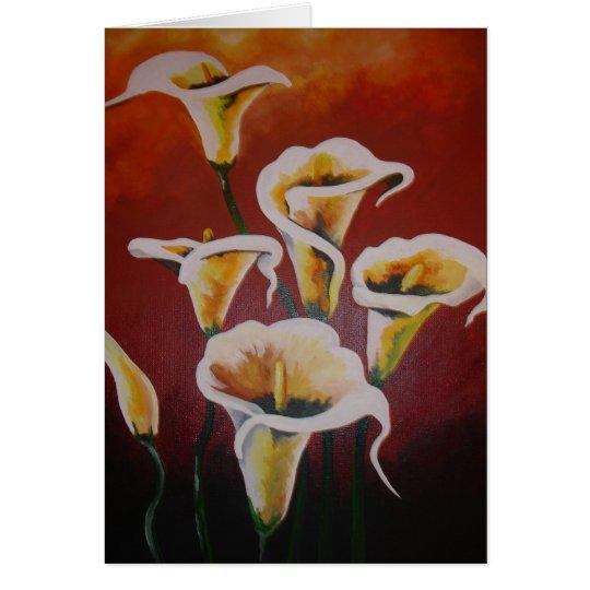 White Calla Lilies Card