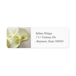 White calla lilies from above label