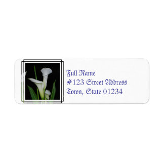 White Calla Lilies Return Address Label