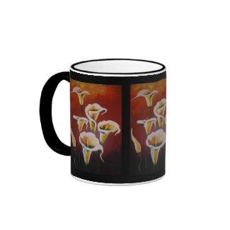 White Calla Lilies mug