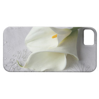 white calla lilies on linen iphone4 ID case iPhone 5 Cases