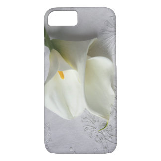 white calla lilies on linen iPhone 7 case ID case