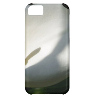White Calla Lilies Over Black Background In Soft F Case For iPhone 5C