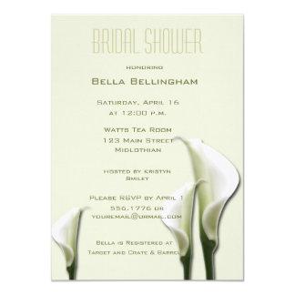 White Calla Lillies Bridal Shower Invitation