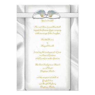 White Calla Lilly Invitations