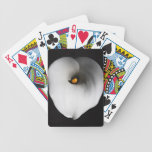 white calla lily bicycle poker cards