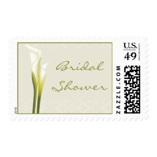 White Calla Lily Bridal Shower Stamps