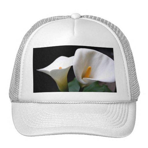 White Calla Lily Flower Baseball Hat