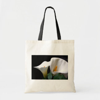 White Calla Lily Flower Environmental Tote  Tote Bags