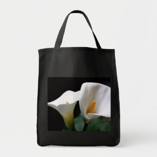 White Calla Lily Flower Grocery Tote Bag