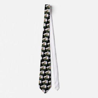 White Calla Lily Flower Men's Necktie