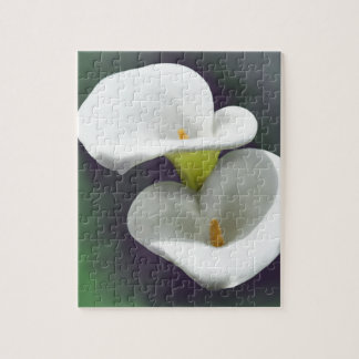White Calla Lily Flowers Jigsaw Puzzle