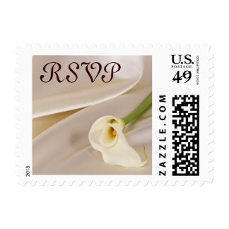 White Calla Lily, RSVP Postage