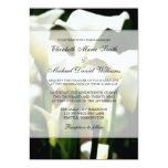 """White Calla Lily Wedding 5"""" X 7"""" Invitation Card"""