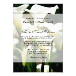 White Calla Lily Wedding Announcement