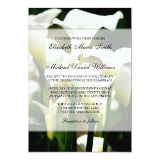 White Calla Lily Wedding 5x7 Paper Invitation Card