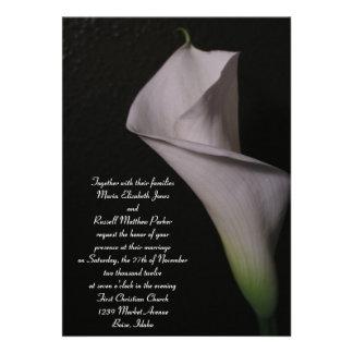 White Calla Lily Wedding Invitations