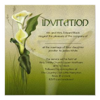 White Calla Wedding Invitations
