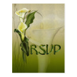 White Calla Wedding RSVP Post Cards