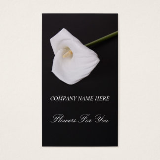 White callalilly Flowers For You Business card