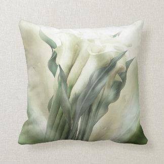 White Callas Art Decorator Pillow