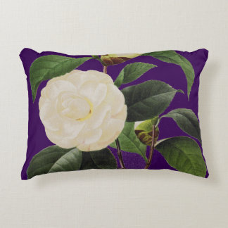 White Camellia, 1833 Accent Pillow