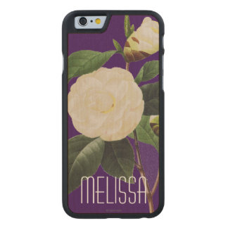 White Camellia, 1833 Carved® Maple iPhone 6 Case