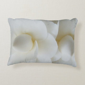 White Camellia Bush Flowers 0295 Accent Pillow