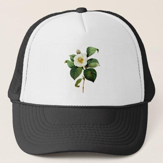 White Camellia by Pierre Joseph Redoute Trucker Hat