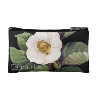 White Camellia Cosmetic Bag