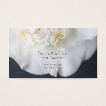 Professional Business White camellia flower business card