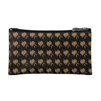 White Camellia Flowers Cosmetic Bag