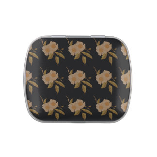 White Camellia Flowers Jelly Belly Tin