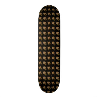 White Camellia Flowers Skateboard Deck