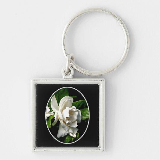 White Camellia Keychain