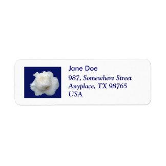 White camellia label