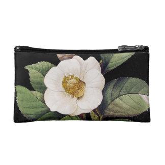 White Camellia Makeup Bag