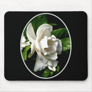 White Camellia Mouse Pad
