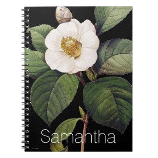 White Camellia Notebook
