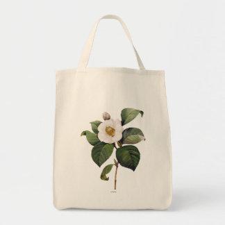 White Camellia Tote Bag