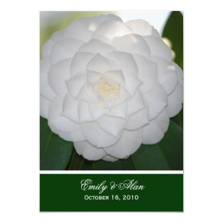 White Camellia Wedding Invitations