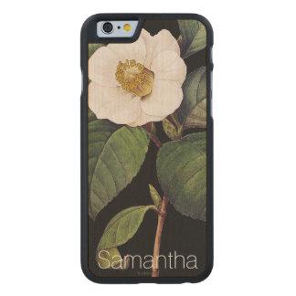 White Camellia Carved® Maple iPhone 6 Slim Case