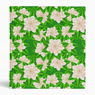 White Camellias and Green Leaves Binder