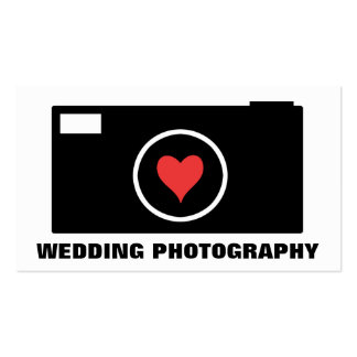 White Camera Wedding Photography Business Card