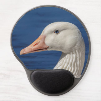White Canadian Goose Gel Mouse Pad