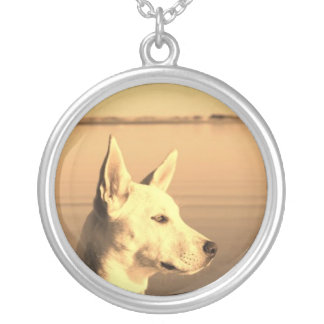 White Canadian Shepard Necklace