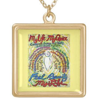 White Cancer Angel Art Poem Charm Jewelry Necklace