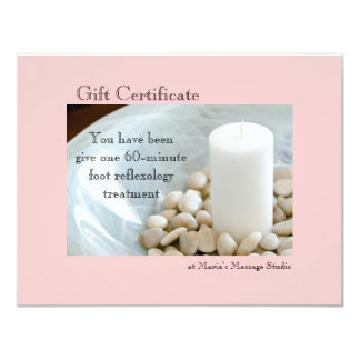 White Candle Gift Certificate 4.25x5.5 Paper Invitation Card