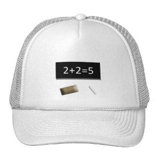 White cap 2+2=5 trucker hat