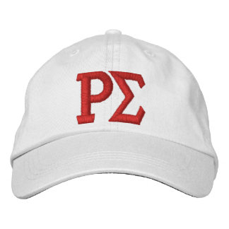 WHITE CAP WITH EMBROIDERED LETTERS